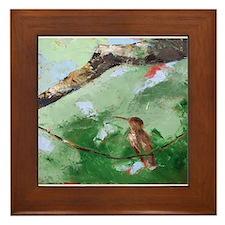 Day Twenty-Four Hummingbird Framed Tile