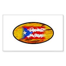 PR Flag Rectangle Decal