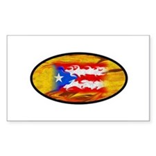 PR Flag Rectangle Stickers