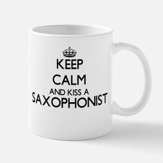 Keep calm and kiss a Saxophonist Mugs