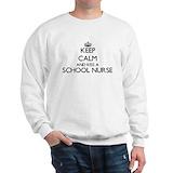 1 keep calm and trust a school nurse Crewneck Sweatshirts