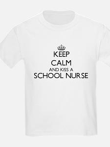 Keep calm and kiss a School Nurse T-Shirt