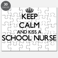 Keep calm and kiss a School Nurse Puzzle