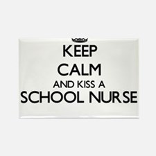 Keep calm and kiss a School Nurse Magnets