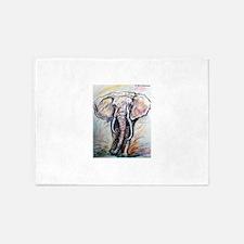 Elephant! Wildlife art! 5'x7'Area Rug