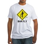 Warning Bar Fly Fitted T-Shirt