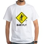 Warning Bar Fly White T-Shirt