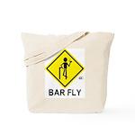 Warning Bar Fly Tote Bag