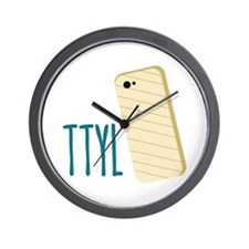 TTYL Wall Clock