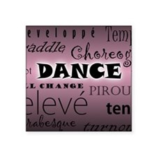 "Unique Jazz dancing Square Sticker 3"" x 3"""