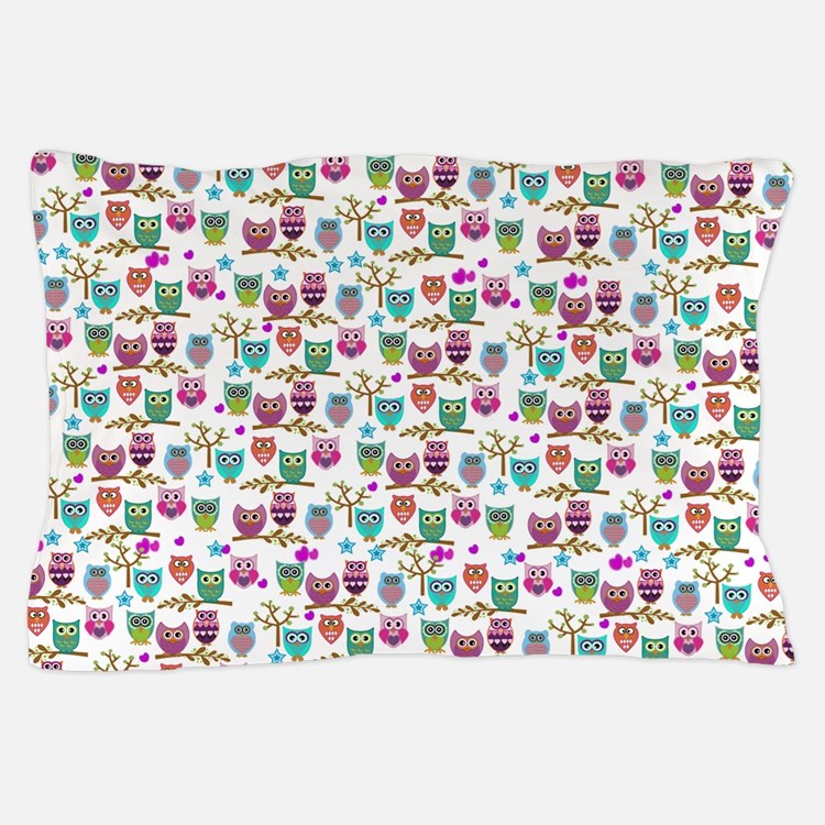 happy owls Pillow Case