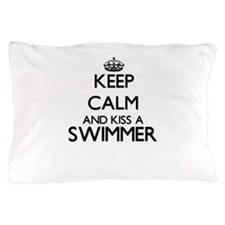 Keep calm and kiss a Swimmer Pillow Case