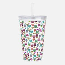 happy owls Acrylic Double-wall Tumbler