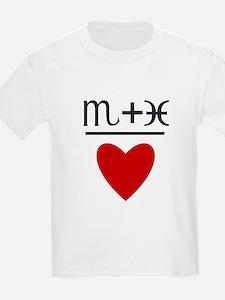 Scorpio + Pisces = Love T-Shirt