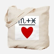 Scorpio + Pisces = Love Tote Bag