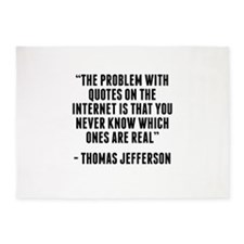 Thomas Jefferson Internet Quote 5'x7'Area Rug