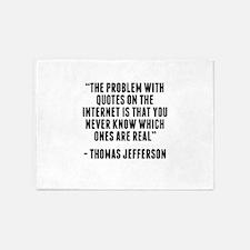 Thomas Jefferson Internet Quote 5'x7'Area Rug
