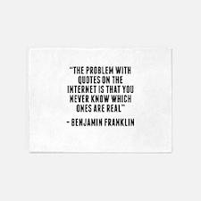 Benjamin Franklin Internet Quote 5'x7'Area Rug