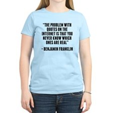 Benjamin Franklin Internet Quote T-Shirt