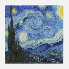 Van Goghs Starry Night Tile Coaster