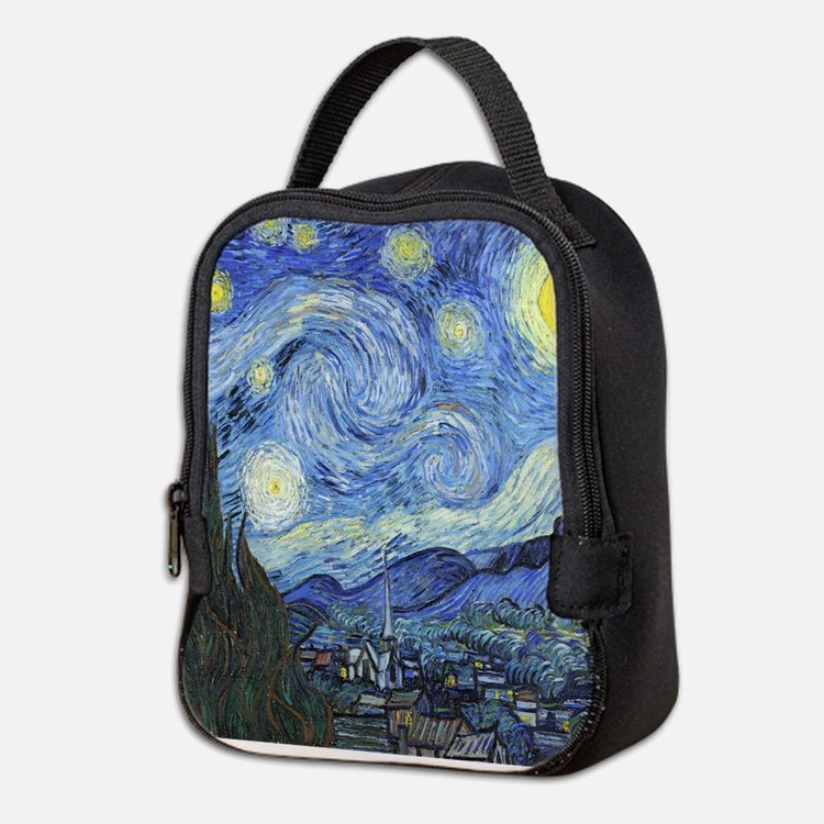 Van Goghs Starry Night Neoprene Lunch Bag