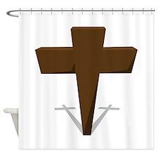 Religious Cross Shower Curtain