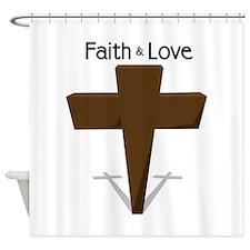 Faith & Love Shower Curtain