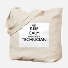 Keep calm and kiss a Technician Tote Bag