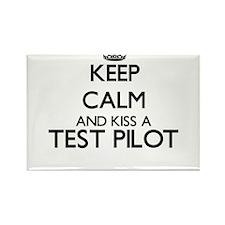 Keep calm and kiss a Test Pilot Magnets