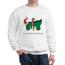 T-Rex hates Christmas Sweatshirt