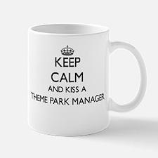 Keep calm and kiss a Theme Park Manager Mugs
