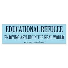 Educational Refugee/World Bumper Bumper Sticker