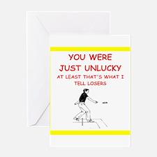 i love horseshoes Greeting Cards