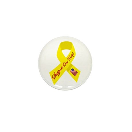Support Our Troops Ribbon Mini Button (100 pack)