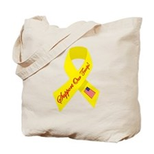 Support Our Troops Ribbon Tote Bag