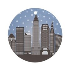 Cleveland Snowflakes Ornament (round)