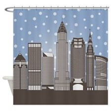 Cleveland Snowflakes Shower Curtain