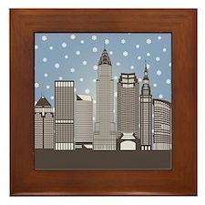 Cleveland Snowflakes Framed Tile