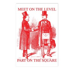 Masons meet on the level-Red Postcards (Package o