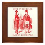 Masons meet on the level-Red Framed Tile
