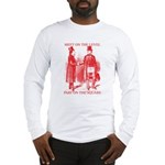 Masons meet on the level-Red Long Sleeve T-Shirt