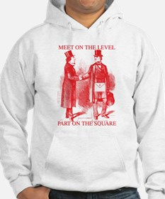 Masons meet on the level-Red Hoodie