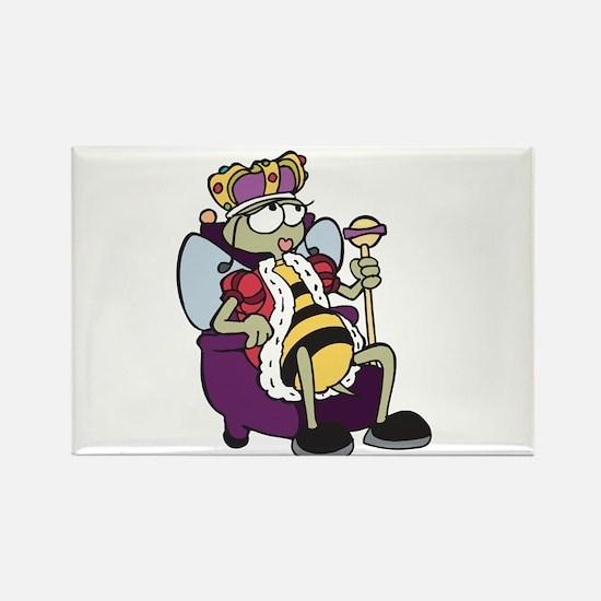 Queen Bee Cartoon Rectangle Magnet