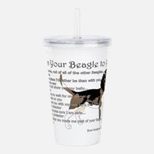 A Beagle's Letter To Acrylic Double-Wall Tumbler