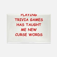 i love trivia Magnets