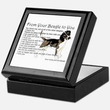 A Beagle's Letter To You Keepsake Box
