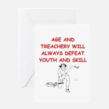i love tennis Greeting Cards