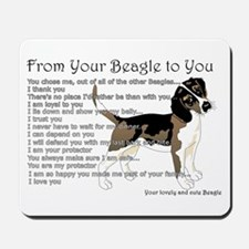 A Beagle's Letter To You Mousepad