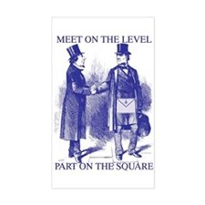 Meeting On the Level - Masonic Blue Decal