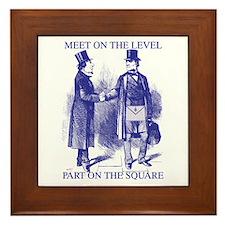 Meeting On the Level - Masonic Blue Framed Tile